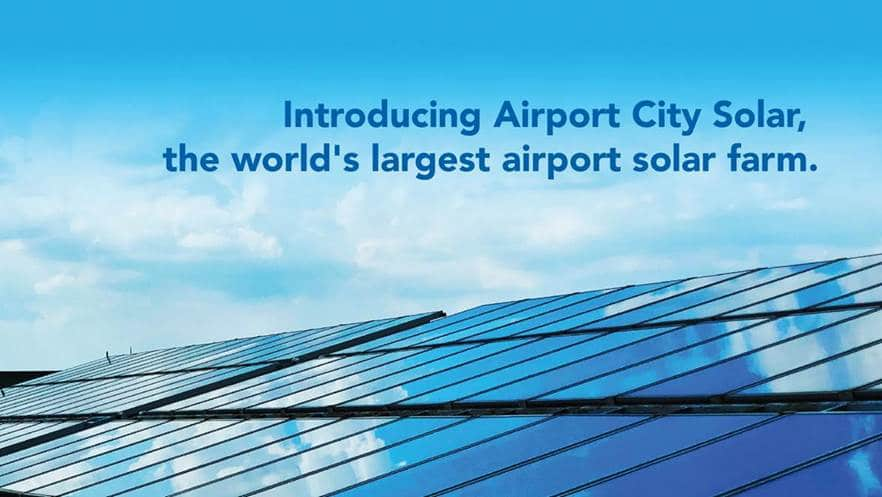 World's-largest airport solar farm arriving at EIA
